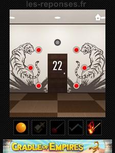niveau 22 dooors solution tigres