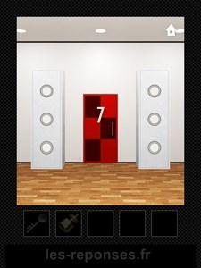dooors niveau 7 porte rouge