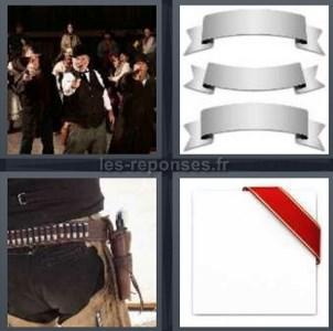 Solution 4 Images 1 Mot Hommes Armes Bandeaux Ceinture Pistolet 5 Lettres