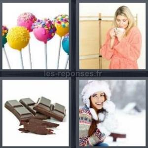 Solution 4 Images 1 Mot Sucette Peignoir Chocolat Froid 4 Lettres