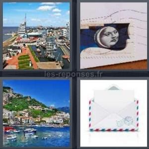 Solution 4 Images 1 Mot Port Timbre Mer Enveloppe 4 Lettres