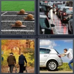 Solution 4 images 1 mot escargots embouteillage for Garage qui reprend les voitures en panne