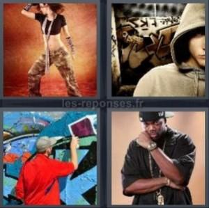 Solution 4 Images 1 Mot Danse Capuche Tag Rappeur 6 Lettres