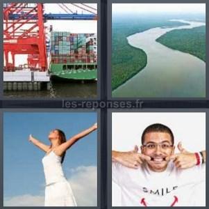 Solution 4 Images 1 Mot Conteneur Riviere Femme Smile 5 Lettres