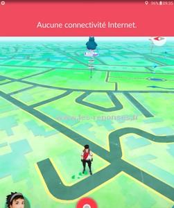 aucune connectivité internet sur Pokémon Go