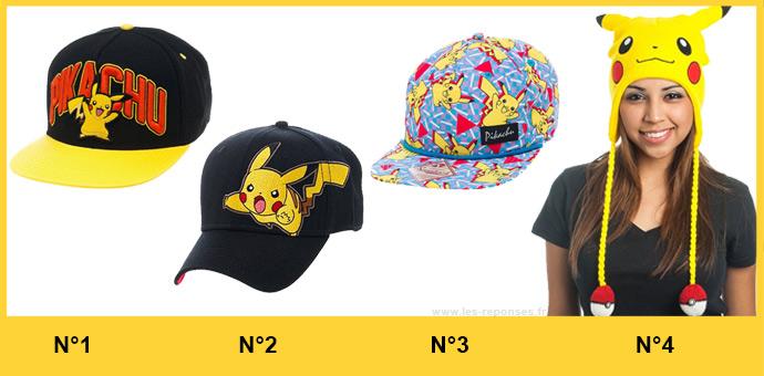 casquette pikachu