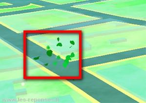 feuilles qui volent dans Pokemon Go