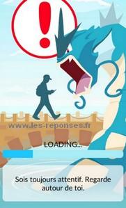 barre chargement coincée pokemon go