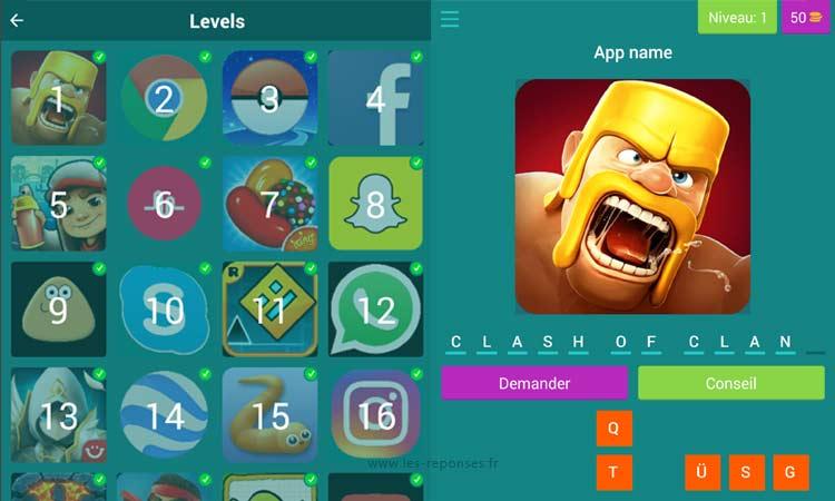 capture d'écran du jeu App Guessing