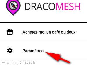 paramètres de DracoMesh