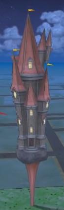 capture d'écran d'une forteresse dans HP Wizards Unite