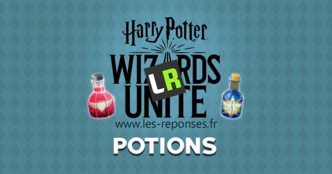 liste des potions de Harry Potter Wizards Unite