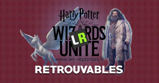 liste des retrouvables de Wizards Unite (Harry Potter)