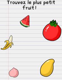 solution niveau 13 stump me plus petit fruit