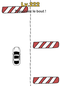 brain out niveau 222 voiture obstacle solution