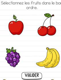 brain test solution niveau 110 fruits