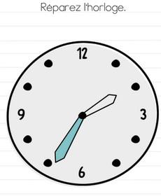 réparer horloge brain test niveau 150