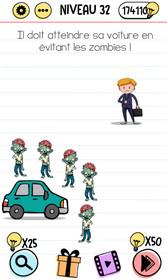 solution brain test zombie niveau 32