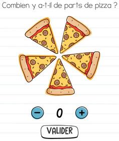 brain test niveau 5 part de pizza solution