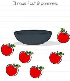 brain test niveau 51 pommes solutions