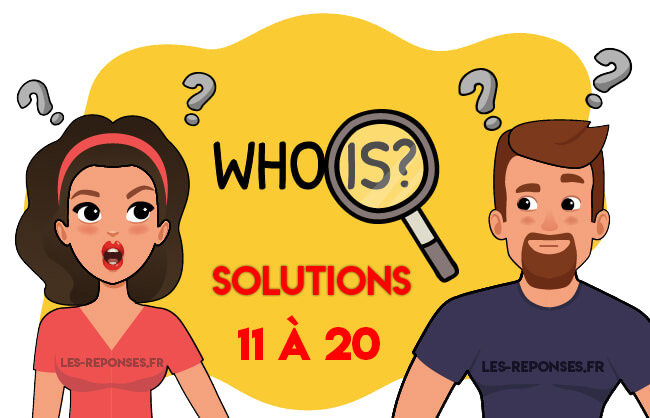 solutions who is 11 à 20