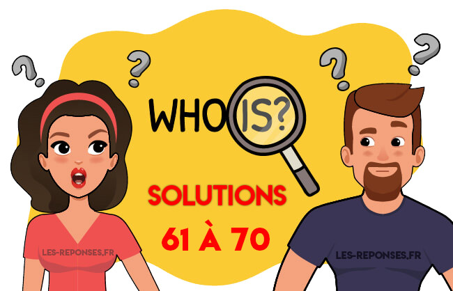 solutions who is 61 à 70